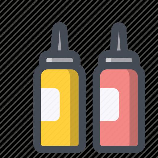 bottle, breakfast, dinner, fast food, ketchup, restaurant, sauce icon
