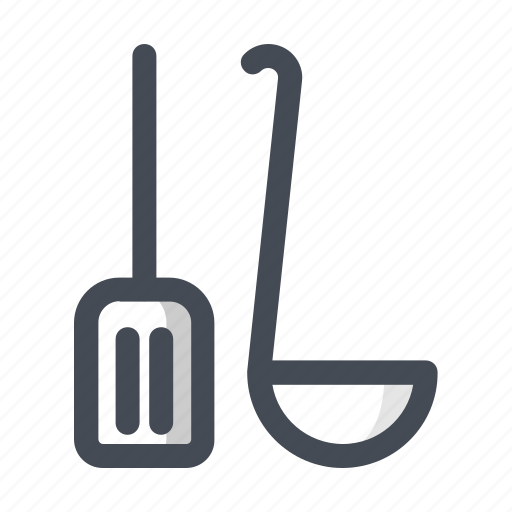 cook, cooking, kitchen, scoop, shovel, utensil, vessel icon