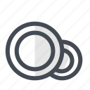 cleaning, dish, dishes, eating, plates, restaurant, utensils icon