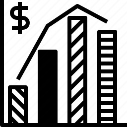 annual, bar, chart, graph, report, sale icon