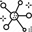connect, connection, dot, graph, web icon