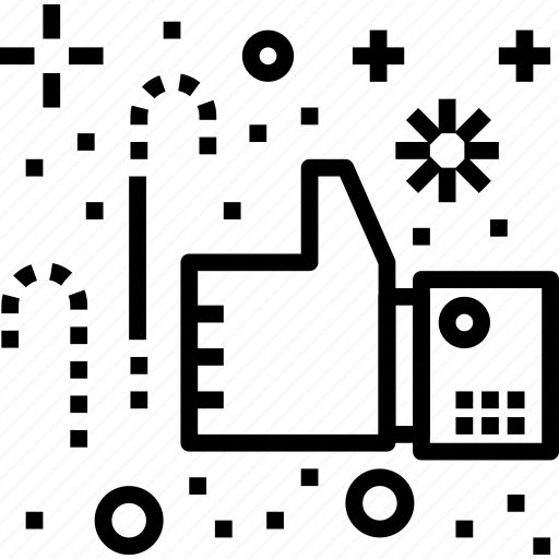 customer, feedback, happy, like, service icon