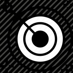 achive, customer, goal, target icon