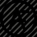 decrease, font, design, smaller icon