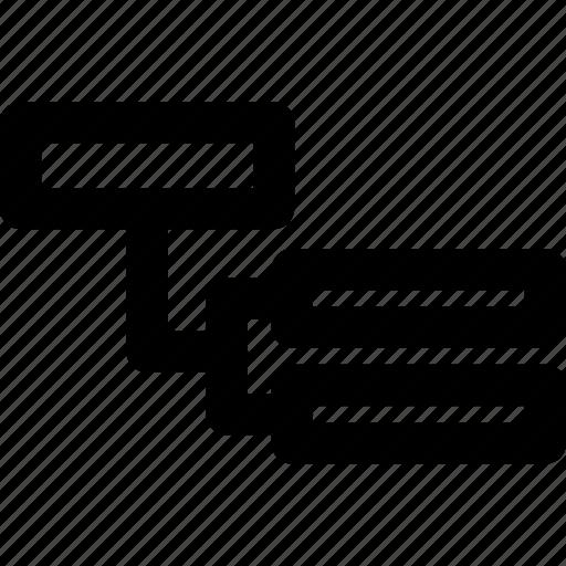 list, structure, thread, tree icon