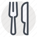 cutlery, fork, kitchen, knife, spoon, tools, utensil icon