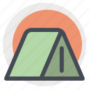 adventure, camp, house, outdoor, tent, trekking, wildlife icon