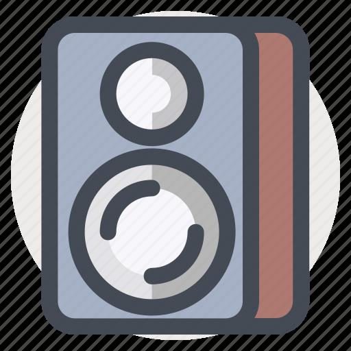 equipment, media, multimedia, music, sound, speaker, woofer icon