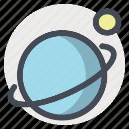 galaxy, moon, planet, ring, saturn, space, sputnik icon