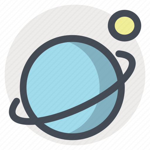 galaxy, moon, planet, ring, saturn, space, sputnik icon