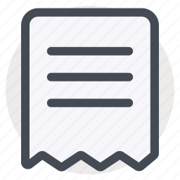 bill, data, document, file, important, paper, receipt icon