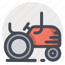 agriculture, farm, farming, nature, tractor, transport, vehicle icon