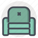 couch, decor, furniture, home, household, seat, sofa icon
