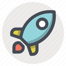 business, galaxy, launch, rocket, space, spaceship, startup icon