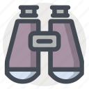 binocular, device, distance, glass, lense, research, watch icon