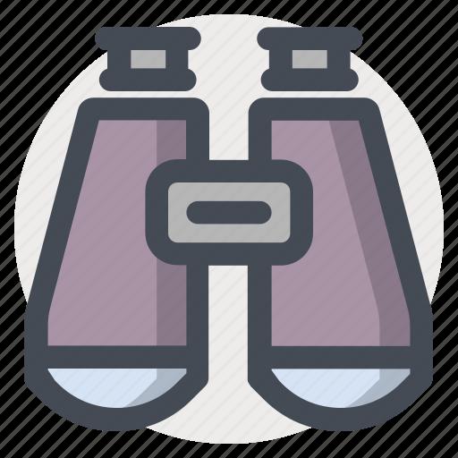 binocular, device, distance, glass, lense, research, watch icon
