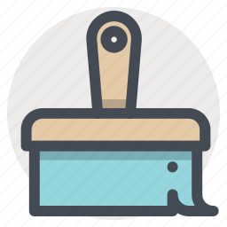 brush, clean, color, construction, paint, painting, tool icon