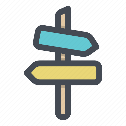 board, direction, path, sign, sign board, way icon