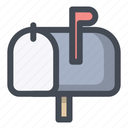 communication, letter box, mail, message, paper, postbox icon