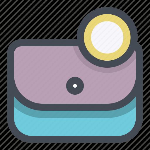 cash, dollar, fashion, money, purse, savings, wallet icon