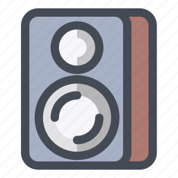device, media, multimedia, music, sound, speaker, woofer icon