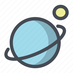 galaxy, moon, planet, ring, saturn, sputnik icon