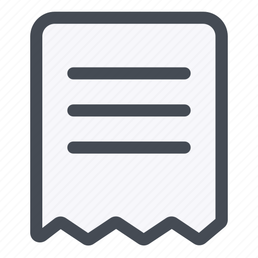 data, document, file, important, paper, receipt icon