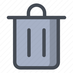 bin, dustbin, garbage, recycle, trash, waste icon