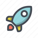 galaxy, launch, rocket, space, spaceship, startup, universe icon