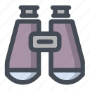 binocular, device, distance, find, glass, search, watch icon