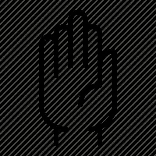 gesture, halt, hand, stop icon