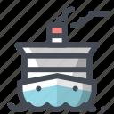 boat, cruise ship, fishing, marine life, ocean, sea, ship icon
