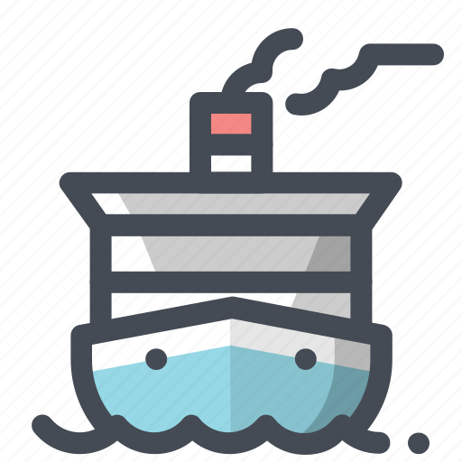 boat, cruise, cruise ship, marine life, ocean, sea, ship icon