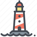 fishing, lighthouse, marine life, ocean, sea, signal, signpost icon