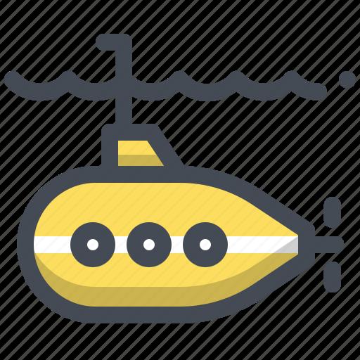 boat, marine, ocean, research, sea, ship, submarine icon