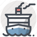 boat, cruise, marine, ocean, sea, ship, travelling icon