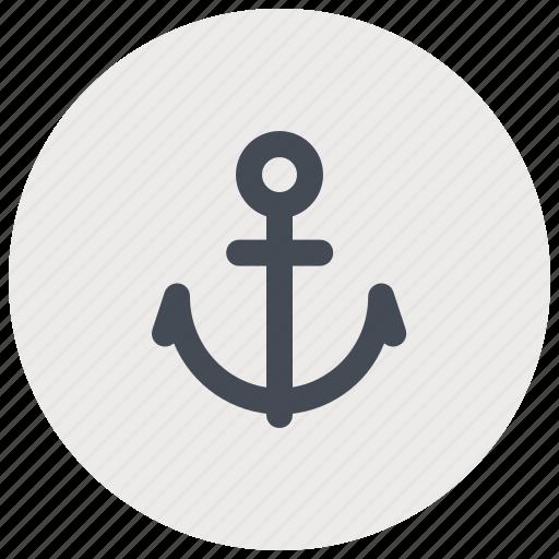 anchor, boat, marine, ocean, sea, ship, travel icon