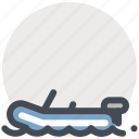 adventure, boat, ship, sports, surfing, travel, water icon