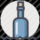bottle, help, marine life, message, ocean, sea icon