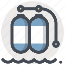 cylinder, diver, diving, life, oxygen, scuba, tank icon