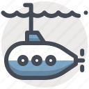 marine, nautical, ocean, sea, ship, submarine, underwater icon