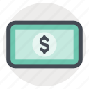 dollar, economy, finance, income, money, note, shopping icon