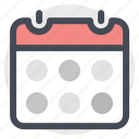 calender, date, manage, month, schedule, shop, shopping icon