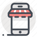 marketplace, mobile, online, retail, shop, shopping, store icon