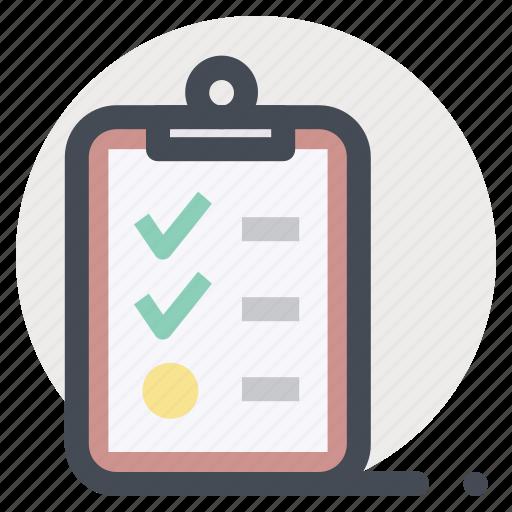 checklist, clipboard, complete, item, list, menu, shopping icon