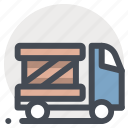 delivery, goods, package, parcel, transport, truck, vehicle icon