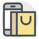 carrybag, marketplace, mobile, online, shop, shopping, store icon