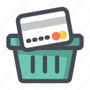 add, basket, bucket, card, payment, shopping, wishlist icon