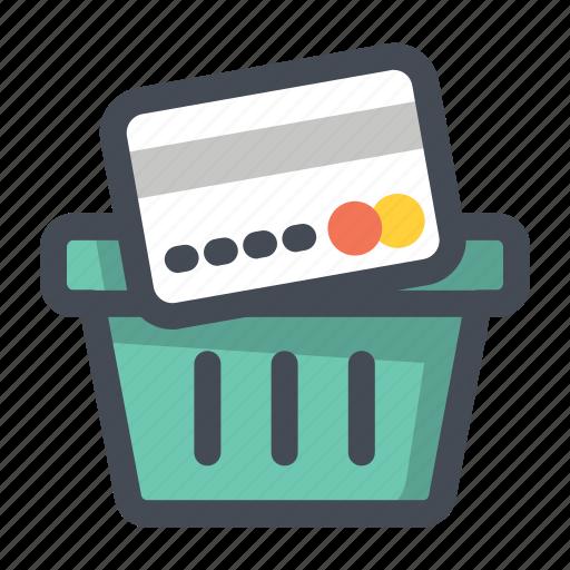 add, basket, bucket, card, payment, shopping, wishlist icon