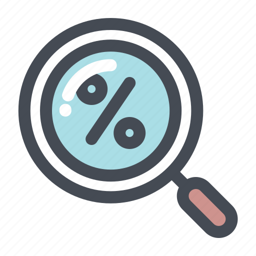 discount, find, offer, percentage, search, shop, shopping icon